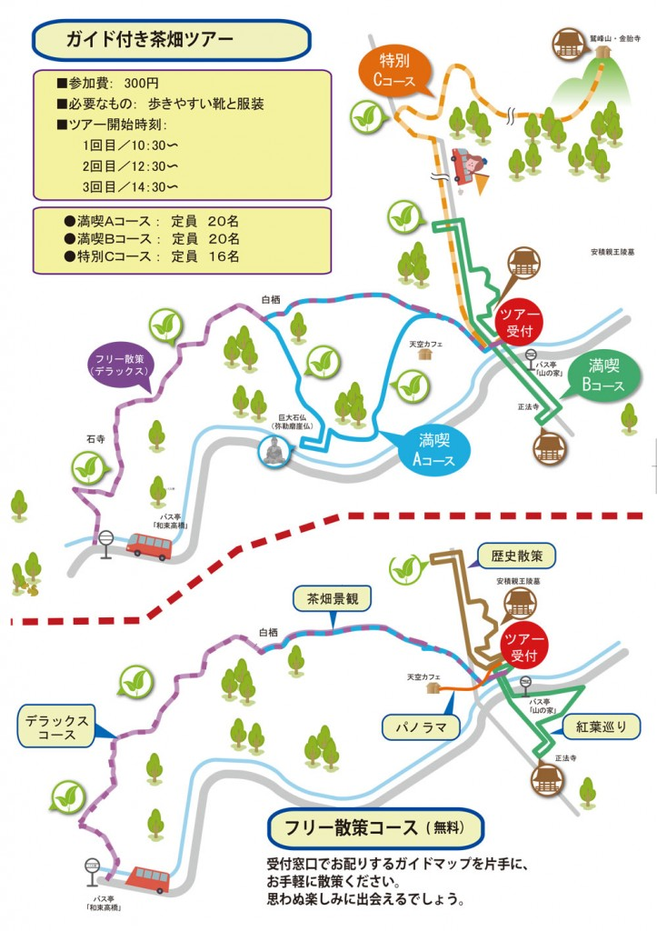 (日本語) 茶源郷ウォーキングマップ完成!