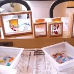 森吉野杉を活用しカラーガラスと組み合わせてのオブジェづくり体験