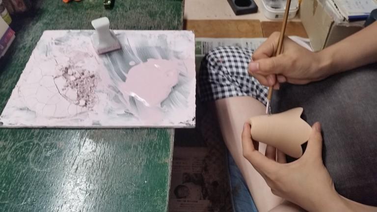 清水焼絵付け体験と陶器の販売
