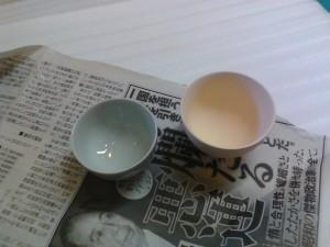 釉薬をかけての焼き上げ後は、素焼きよりも一回りくらい小さく焼き締まる。