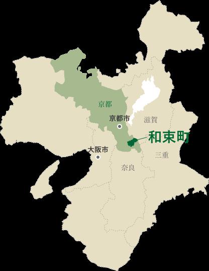 和束町の地図